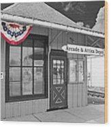 Arcade And Attica Depot Wood Print