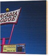 Arcadia Lodge Wood Print