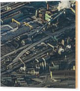 Arcelormittal Dofasco In Winter Wood Print