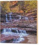 Arch Angel Cascades Wood Print by Joseph Rossbach