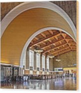 Arch At La Union Station Wood Print