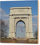 Arch At Valley Forge Wood Print