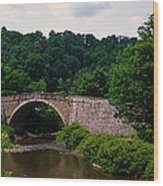 Arch Bridge Across Casselman River Wood Print