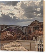 Arch Bridge And Hoover Dam Wood Print by Robert Bales