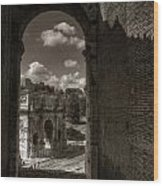 Arch Of Constantine From The Colosseum Wood Print