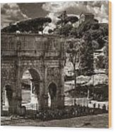 Arch Of Contantine Wood Print