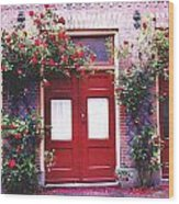 Arch Of Roses  Wood Print