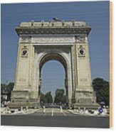 Arch Of Triumph Wood Print