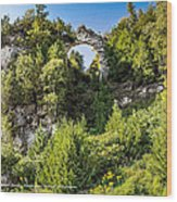 Arch Rock Mackinac Island Michigan Wood Print