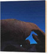 Arch Rock Starry Night Wood Print