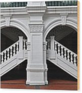 Arch Staircase Balustrade And Columns Wood Print