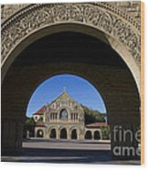 Arch To Memorial Church Stanford California Wood Print