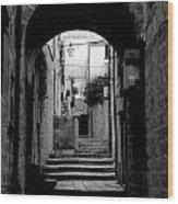 Arch Walkway Wood Print