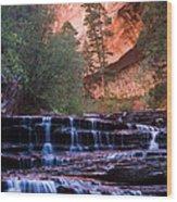 Archangel Cascades Wood Print