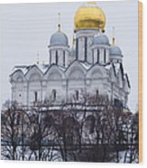Archangel Cathedral Of Moscow Kremlin - Featured 3 Wood Print