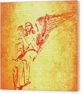 Archangel Michael  Wood Print by Lali Kacharava