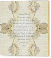 Archangel Michael Remove Fear  Wood Print