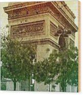 Arche De Triomphe Mood Wood Print