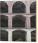 Arched Brick Portals Fort Point San Francisco Wood Print