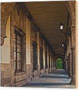 Arched Corridor Wood Print