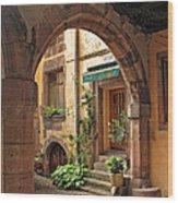 Arched Doorway In Kayserberg Wood Print