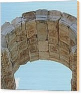 Arched Gate Of The Tetrapylon Wood Print