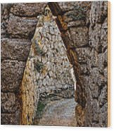 Arched Medieval Gate Wood Print