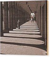Arched Walk Way       Wood Print
