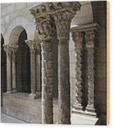 Arches And Columns - Cloister Nyc Wood Print