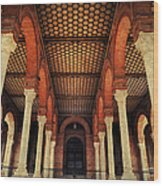 Arches And Columns Of Plaza De Espana 1. Seville Wood Print