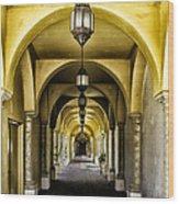Arches And Lanterns Wood Print by Thomas R Fletcher
