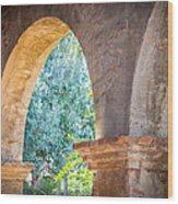 Arches At Mission San Juan Capistrano Wood Print