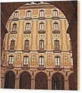 Arches Of Montserrat Monastery Catalonia Spain  Wood Print