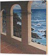 Arches Over The Ocean Wood Print