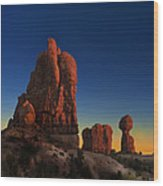 Arches After Sunset Wood Print