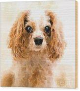 Archie Watercolour Wood Print