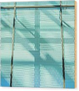 Architectural Detail Of Modern Shopping Wood Print