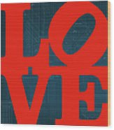 Architectural Love Wood Print