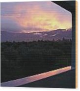 Architectural Sunset Wood Print