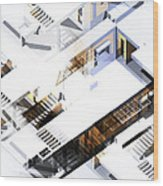 Architecture Abstract Wood Print