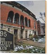 Architecture And Places In The Q.c. Series 01 The Twentieth Century Club Wood Print