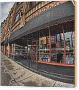 Architecture And Places In The Q.c. Series Bacchus Restaurant Wood Print