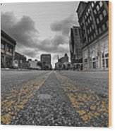 Architecture And Places In The Q.c. Series Delaware And Chippewa Wood Print