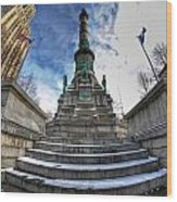 Architecture And Places In The Q.c. Series  Soldiers And Sailors Monument In Lafayette Square Wood Print