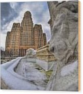 Architecture And Places In The Q.c. Series When The Lions Rest Wood Print