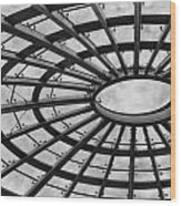 Architecture Ceiling In Black And White Wood Print