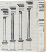 Architecture I Orders Of Architecture Engraved By Charles Lawrie Wood Print
