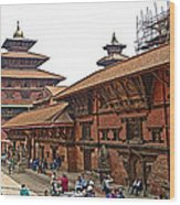 Architecture Of Patan Durbar Square In Lalitpur-nepal Wood Print
