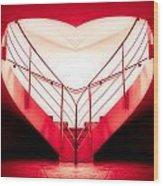 architecture's valentine - redI Wood Print