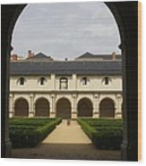 Archview To The Courtyard - France Wood Print